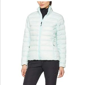 Adidas light blue pack it down jacket